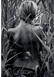 woman photographed from back