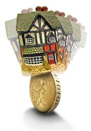 house on coin
