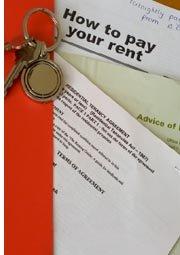 rental documents and keys