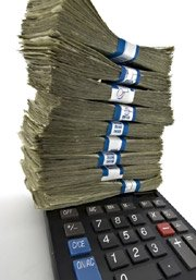 calculator with money