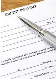 pen on credit inquiry