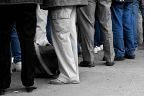 queue of applicants